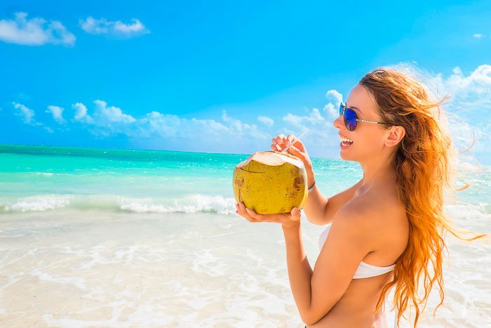 Recorra à boa e deliciosa água de coco