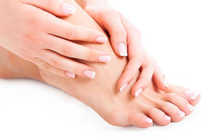 Proteção para as unhas dos pés